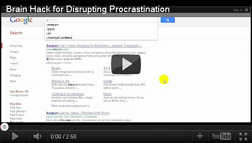 Brain Hack for Disrupting Procrastination