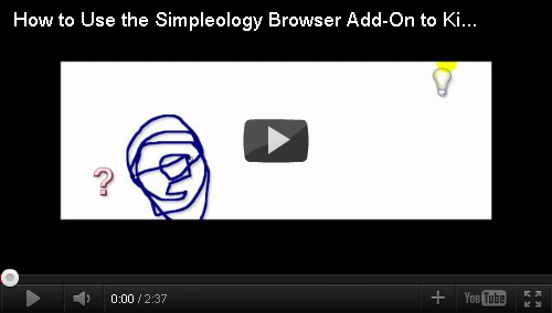 How to use the Simpleology Browser Add On