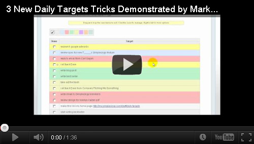 3 New Simpleology Daily Target Improvements Demonstrated by Mark Joyner