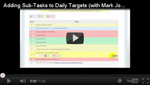 new sub tasks for daily targets simpleology blog